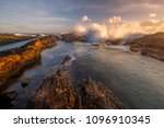 sunrise over snapper rocks | Shutterstock . vector #1096910345