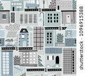 childish seamless pattern with... | Shutterstock .eps vector #1096915388