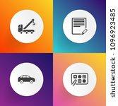 modern  simple vector icon set... | Shutterstock .eps vector #1096923485