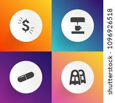modern  simple vector icon set... | Shutterstock .eps vector #1096926518