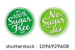 sugar free and no sugar added... | Shutterstock .eps vector #1096929608