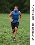 Athlete Running - stock photo