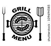 vector grill menu symbol   Shutterstock .eps vector #109694585