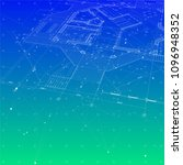 architecture design  blueprint... | Shutterstock .eps vector #1096948352