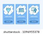 oneboarding app screens set... | Shutterstock .eps vector #1096955378