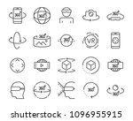 virtual reality gaming icons ... | Shutterstock .eps vector #1096955915