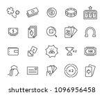 casino game icon set  black... | Shutterstock .eps vector #1096956458