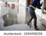 construction worker painting... | Shutterstock . vector #1096958258