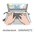 hand drawn vector cartoon... | Shutterstock .eps vector #1096965272