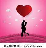love and valentine day lovers...   Shutterstock .eps vector #1096967222