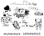 cute piggy. vector illustration ...   Shutterstock .eps vector #1096969415