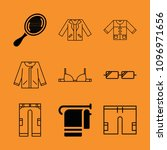 fashion filled set of vector... | Shutterstock .eps vector #1096971656