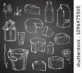 milk dairy produce elements... | Shutterstock .eps vector #1096975505