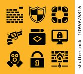 security filled set of vector... | Shutterstock .eps vector #1096976816