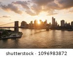 new york skyline and brooklyn... | Shutterstock . vector #1096983872