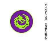 vector dragon logo   Shutterstock .eps vector #1096985276
