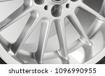 part of silver alloy wheel with ...   Shutterstock . vector #1096990955
