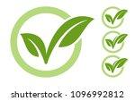 eco checkmark icon | Shutterstock .eps vector #1096992812