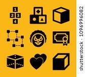 shapes filled set of vector...   Shutterstock .eps vector #1096996082