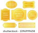 set of assorted yellow labels... | Shutterstock .eps vector #1096999658