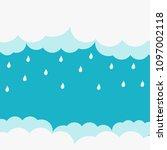 happy monsoon season design ... | Shutterstock .eps vector #1097002118