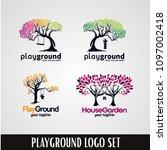 tree playground park logo...   Shutterstock .eps vector #1097002418