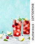 summer iced refreshment drink ... | Shutterstock . vector #1097009048