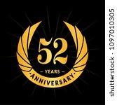 52 years anniversary. elegant... | Shutterstock .eps vector #1097010305