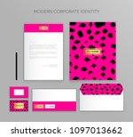 corporate identity business set.... | Shutterstock .eps vector #1097013662
