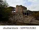 abandoned glass factory in... | Shutterstock . vector #1097015282