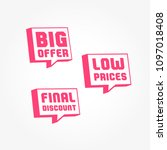big offer  low prices   final... | Shutterstock .eps vector #1097018408