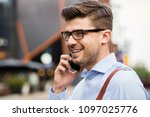 clouse up of man with... | Shutterstock . vector #1097025776