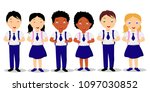 vector illustration  children... | Shutterstock .eps vector #1097030852