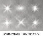 glow light effect. star burst... | Shutterstock .eps vector #1097045972