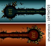 set of halloween banners | Shutterstock .eps vector #109704725