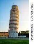 leaning tower of pisa in pisa ... | Shutterstock . vector #1097052488