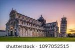 leaning tower of pisa in pisa ... | Shutterstock . vector #1097052515
