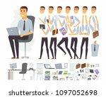businessman at work   vector... | Shutterstock .eps vector #1097052698
