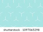green aqua and white line... | Shutterstock .eps vector #1097065298