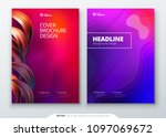 liquid color cover set. fluid... | Shutterstock .eps vector #1097069672