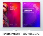 liquid color cover set. fluid... | Shutterstock .eps vector #1097069672