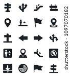 set of vector isolated black... | Shutterstock .eps vector #1097070182