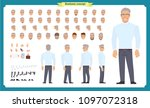 front  side  back view animated ... | Shutterstock .eps vector #1097072318