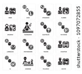 set of 16 simple editable icons ... | Shutterstock .eps vector #1097072855