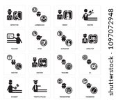 set of 16 simple editable icons ... | Shutterstock .eps vector #1097072948