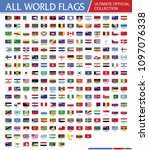 world official flags ultimate... | Shutterstock .eps vector #1097076338