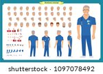 front  side  back view animated ... | Shutterstock .eps vector #1097078492