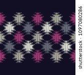 ethnic boho seamless pattern.... | Shutterstock .eps vector #1097080286