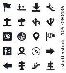 set of vector isolated black... | Shutterstock .eps vector #1097080436