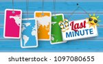 last minute sign with price... | Shutterstock .eps vector #1097080655